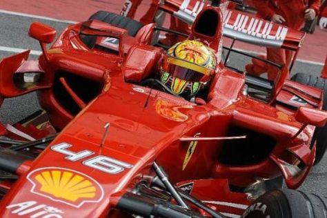Zuletzt saß Valentino Rossi Ende 2008 in Mugello in einem Ferrari