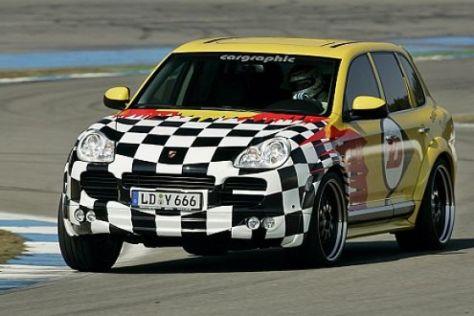 Tracktest Porsche Cayenne S Renntaxi