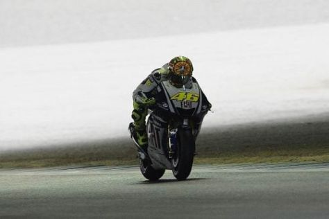 Die Bestzeit vom Freitag war Gold wert: Valentino Rossi steht auf der Pole-Position