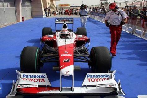 Jarno Trullis Toyota war heute in Bahrain tatsächlich das schnellste Fahrzeug