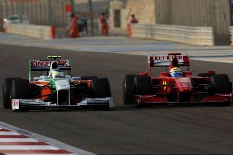 Am Ende musste sich Fisichella noch Massa geschlagen geben