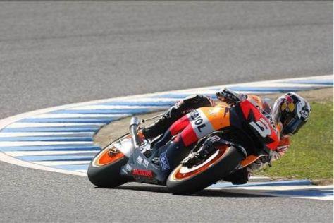 Dani Pedrosa raste beim zweiten Rennen der MotoGP auf den dritten Gesamtrang