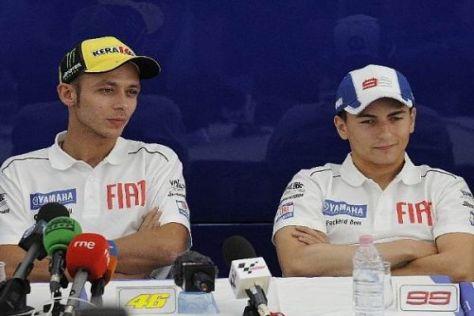 Rossi (l.) würde gegen Lorenzo genauso zu Werke gehen wie gegen Gibernau