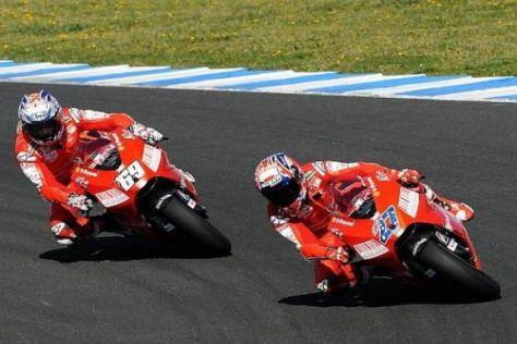In der Zeitenliste von Jerez lagen Stoner und Hayden keineswegs so eng zusammen