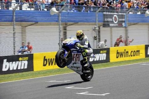 MotoGP 2009 Jerez  Valentino Rossi (Fiat Yamaha) feierte seinen ersten Saisonsieg
