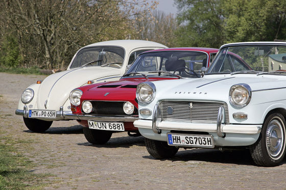 VW Käfer 1200 Triumph 1200 Herald Convertible Simca 1200 S Coupé