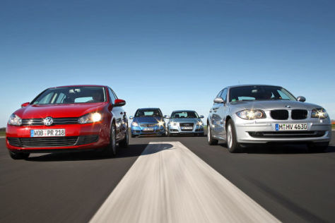 VW Golf 2.0 TDI Mercedes A 180 CDI Audi A3 Sportback 1.9 TDI e BMW 116d