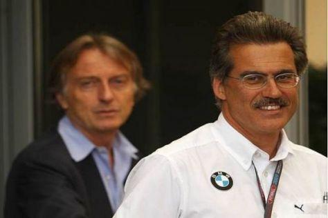Vertreten einen Standpunkt: Mario Theissen und Luca di Montezemolo