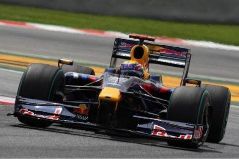 Nur Mark Webber kann mit dem neuen Getriebe-Gehäuse fahren
