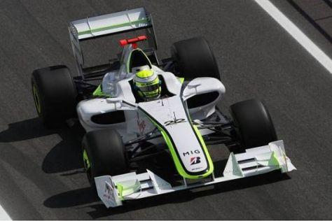 Jenson Button ist mit dem Verhalten seines Autos unzufrieden