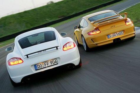 Test 911 GT3 gegen 9ff Cayman
