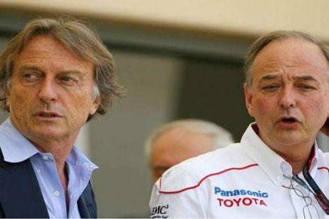 Die obersten Chefs der Teamvereinigung: Luca di Montezemolo und John Howett