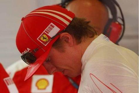 Kimi Räikkönen hat sich gestern im Qualifying massiv verspekuliert