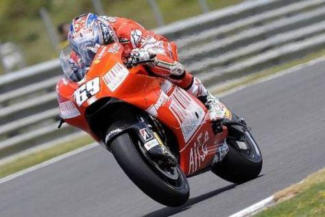Bei Nicky Hayden ist der Ducati-Knoten 2009 bislang noch nicht wirklich geplatzt...