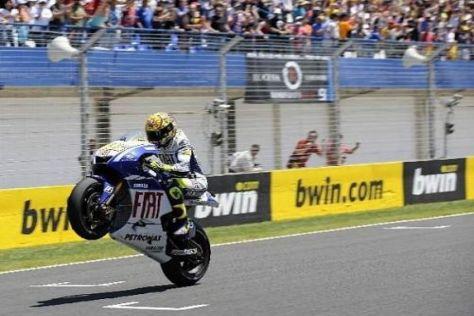Valentino Rossi würde nur zu gerne auch in Le Mans als Erster ins Ziel kommen...