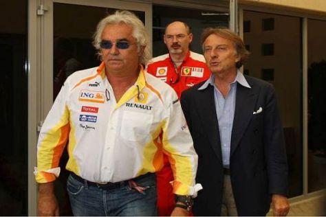 Renault-Boss Flavio Briatore und FOTA-Chef Luca di Montezemolo