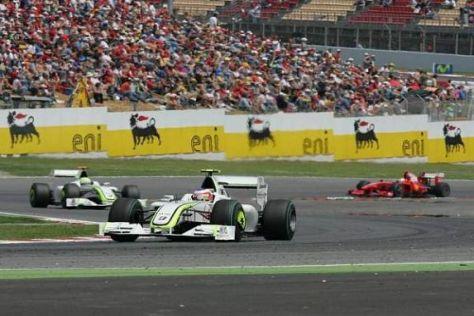 Den Start von Barcelona konnte Barrichello für sich entscheiden, das Rennen nicht...