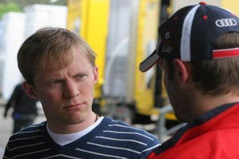 Mattias Ekström und Martin Tomczyl bei den Testfahrten in Hockenheim
