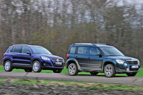 VW Tiguan Skoda Yeti