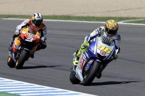 Valentino Rossi und Dani Pedrosa konnten zuletzt in Spanien die Fans begeistern