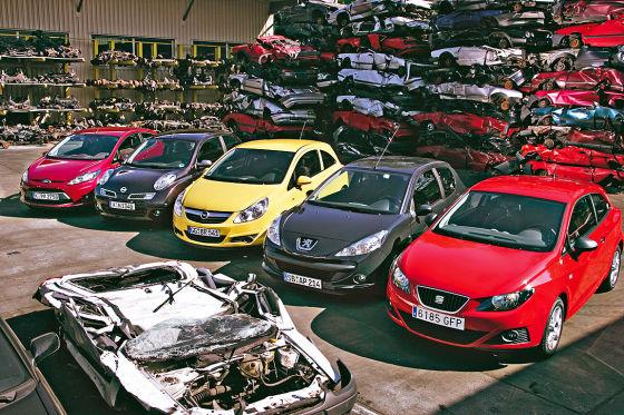 Opel Corsa Nissan Micra Peugeot 206+ Ford Fiesta Seat Ibiza