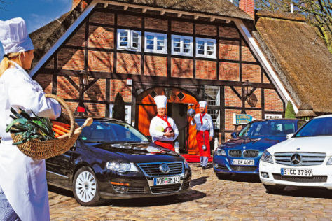 VW Passat 1.4 TSI EcoFuel BMW 318d Mercedes C-Klasse C 180 Kompressor Blue Efficiency