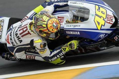 Vier Besuche in der Boxengasse waren drei zu viel für Valentino Rossi
