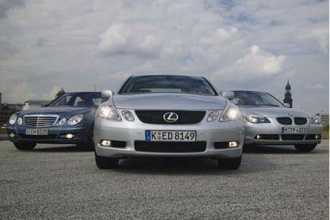 Test Lexus GS 450h gegen E 500 und BMW 550i