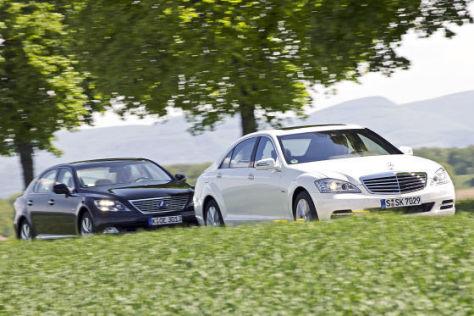 Mercedes S 400 Hybrid Lexus LS 600h