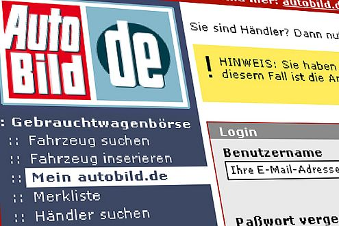 """""""Mein autobild.de"""" liefert Ihnen Gebrauchtwagen-Angebote per Email."""
