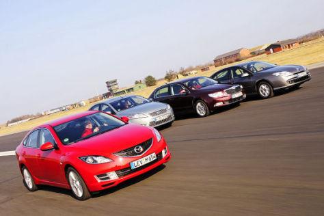 Mazda6 Sport 2.2 MZR-CD Ford Mondeo 2.0 TDCi Skoda Superb 1.9 TDI Renault Laguna 1.5 dCi