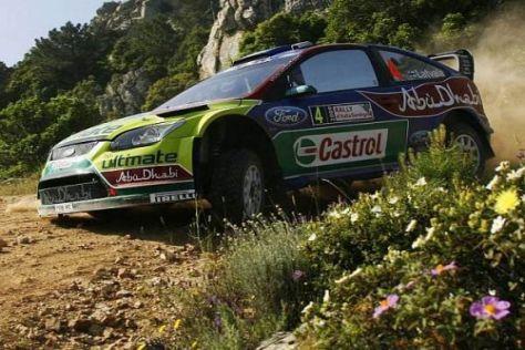 Jari-Matti Latvala konnte seine Führung bei der Rallye Sardinien behaupten