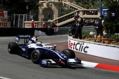 Nico Rosberg hatte Pech, dass er auf seiner Runde in Verkehr geriet