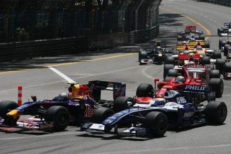 Am Start duellierte sich Nico Rosberg mit Sebastian Vettel