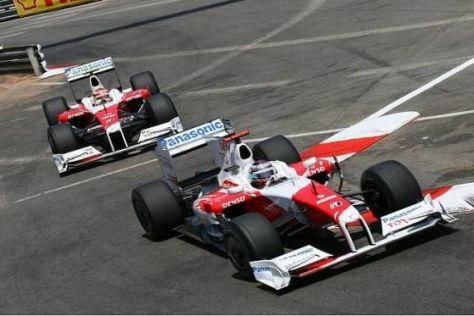 Jarno Trulli vor Timo Glock - bei Toyota ging es nur wenig nach vorn