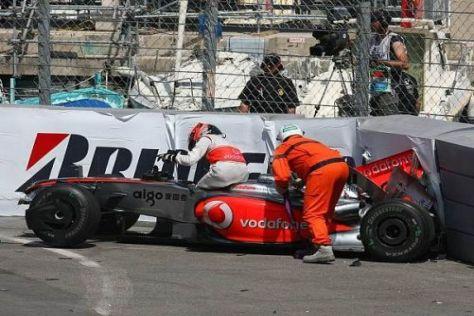 Aus und vorbei: Heikki Kovalainen steckte in der Begrenzung