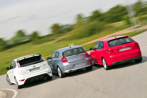 Audi S3 BMW 130i Ford Focus RS