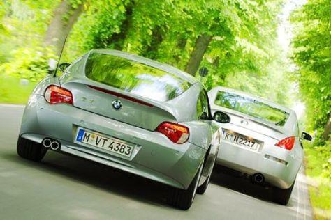 Test BMW Z4 Coupé gegen Nissan 350Z