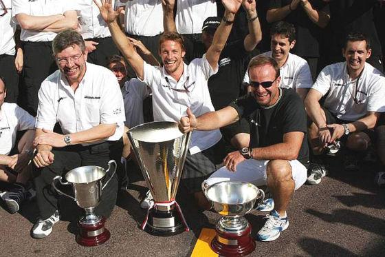 Formel 1 GP von Monaco 2009 Brawn GP feiert ersten Monaco-Erfolg