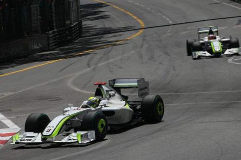 Formel 1 GP von Monaco 2009 Jenson Button vor Rubens Barrichello, Brawn GP