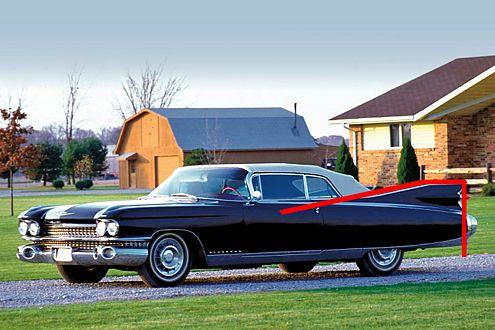 1959 lief die Heckflossenmode zur Höchstform auf. Hier mit dem Cadillac Eldorado Biarritz.