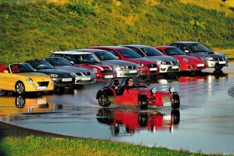 Zehn Autos im Handlingvergleich