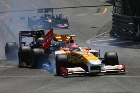 Der entscheidende Moment: Sébastien Buemi knallt auf das Heck des Renault