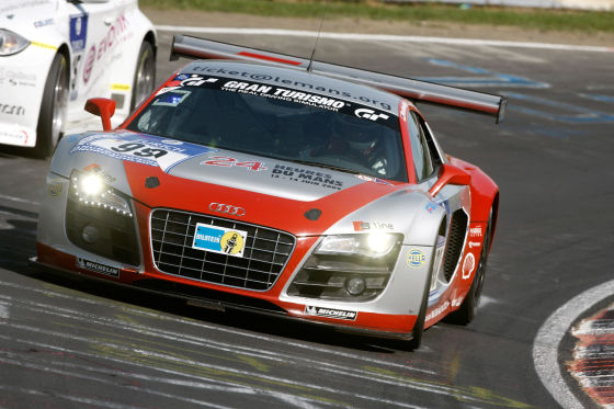 24 Stunden Rennen auf dem Nürburgring 2009 Audi R8 LMS#99 (Phoenix Racing), Marc Basseng/Marcel Fässler/Mike Rockenfeller/Frank Stippler