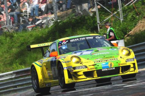 24 Stunden Rennen auf dem Nürburgring 2009 Porsche 911 GT3 RSR Manthey Racing