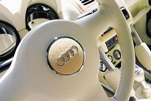 Audi auch innen: Michael hat konsequent gestylt.