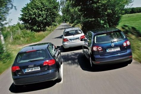 Test A3 Sportback, B-Klasse, Golf Plus