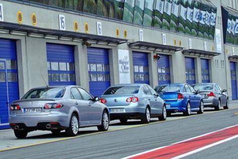 Vier sportliche Limousinen im Test