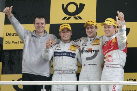 DTM-Saison 2009, Das Podest: Ekström (Audi) , Paffet (Mercedes), Spengler (Mercedes), von rechts nach links