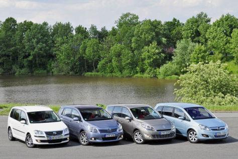 Renault Grand Scénic Toyota Verso Opel Zafira VW Touran